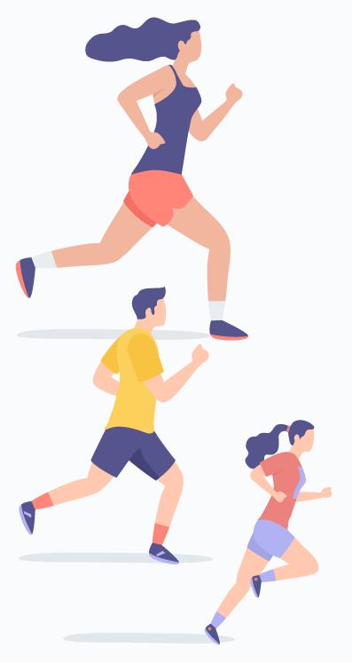 ilustración de deportistas