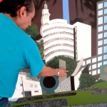 Fotografía del mural virgen de calabaza