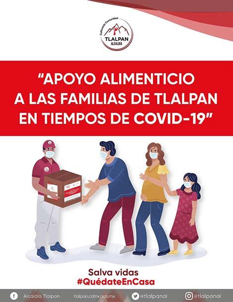Portada de apoyo alimenticio a familias de Tlalpan por COVID