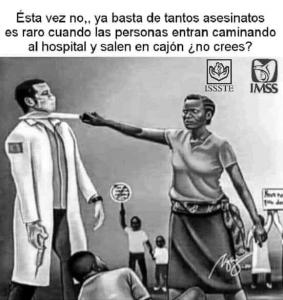 imagen de protesta contra médicos