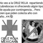 imagen de protesta contra la cruz roja mexicana