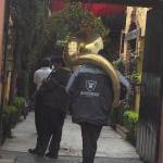 Trompetista en el Barrio de Niño Jesús