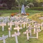 Imagen de cruces del barrio de niño Jesús