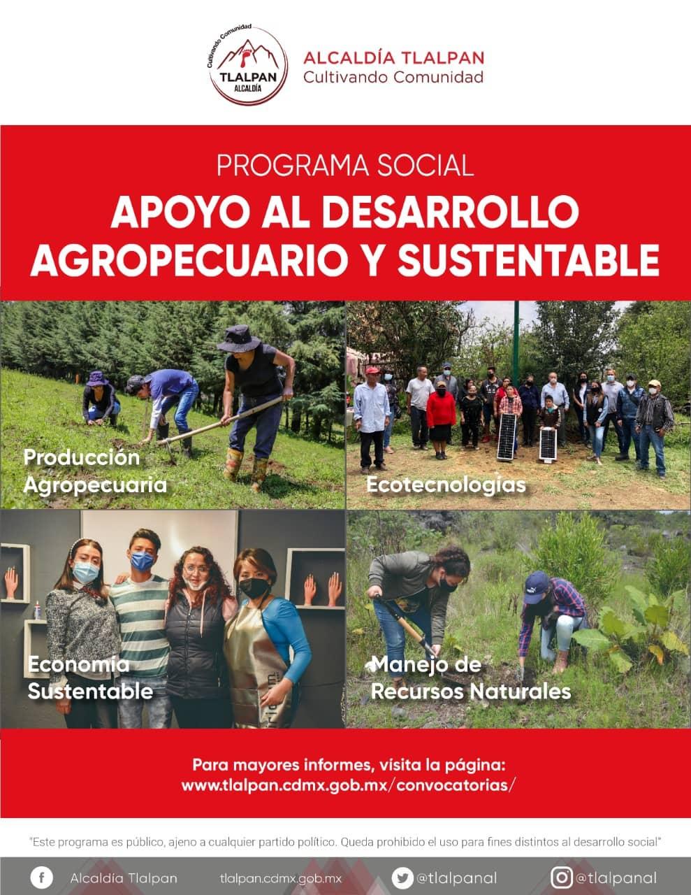 Apoyo al Desarrollo Agropecuario sustentable convocatoria