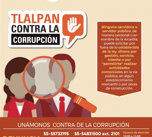 Alcaldía Tlalpan lanza campaña contra corrupcion