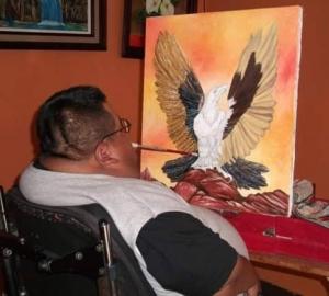 Jose pintando un cuadro